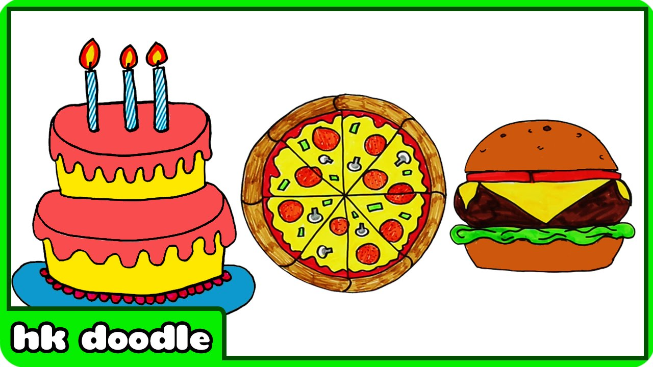 Drawn pizza Draw How YouTube To Cake
