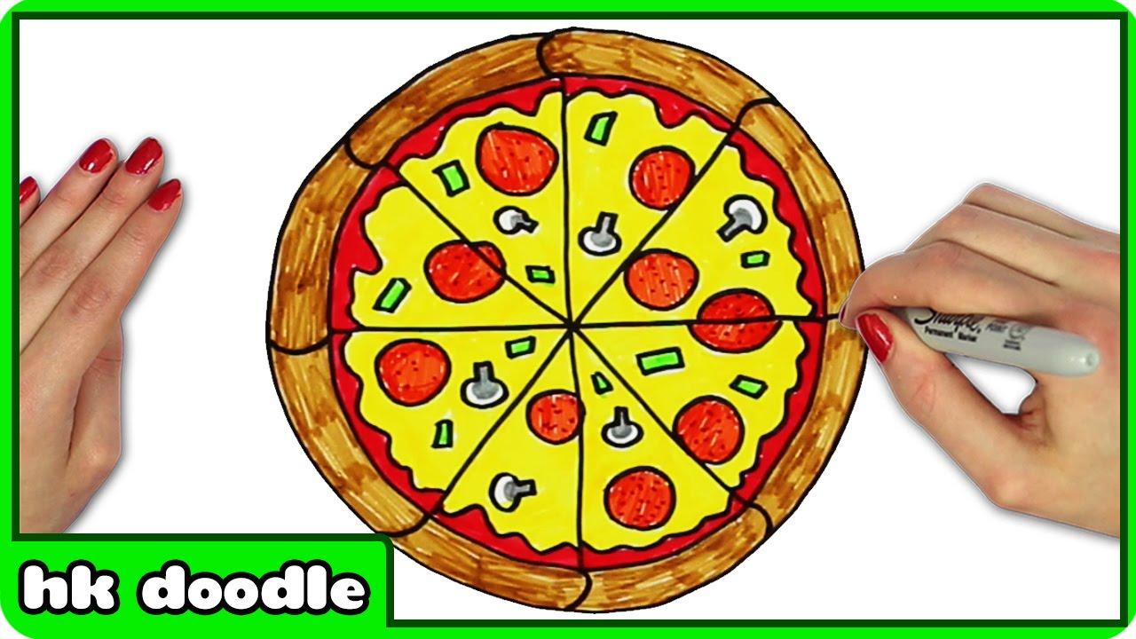 Drawn pizza simple #12