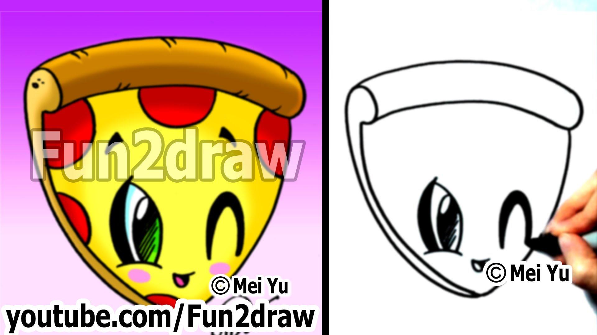 Drawn pizza To Food Pizza Food Kawaii