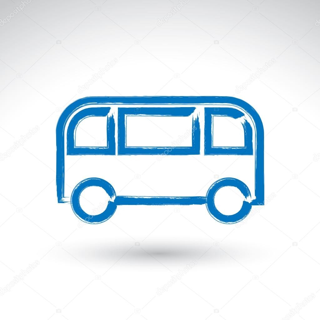 Drawn bus #66330413 Stock Hand Vector —