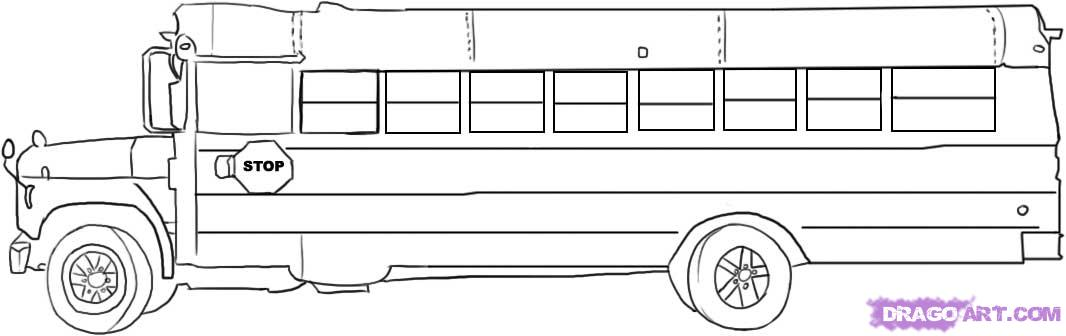 Drawn bus Added by how Step school