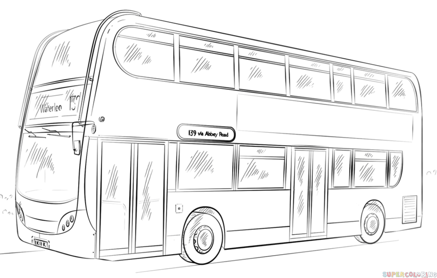 Drawn bus Drawing bus How Step double