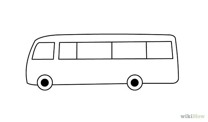 Drawn bus Bus Realistic Pencil Bus Images