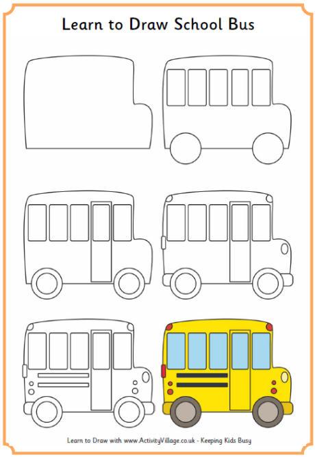 Drawn bus easy bus #14