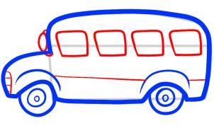 Drawn bus easy bus #13