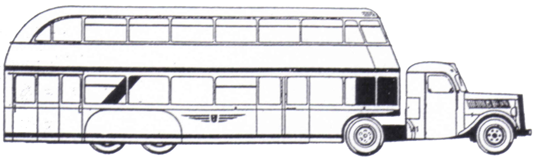 Drawn bus line drawing #2