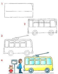 Drawn bus line drawing #3