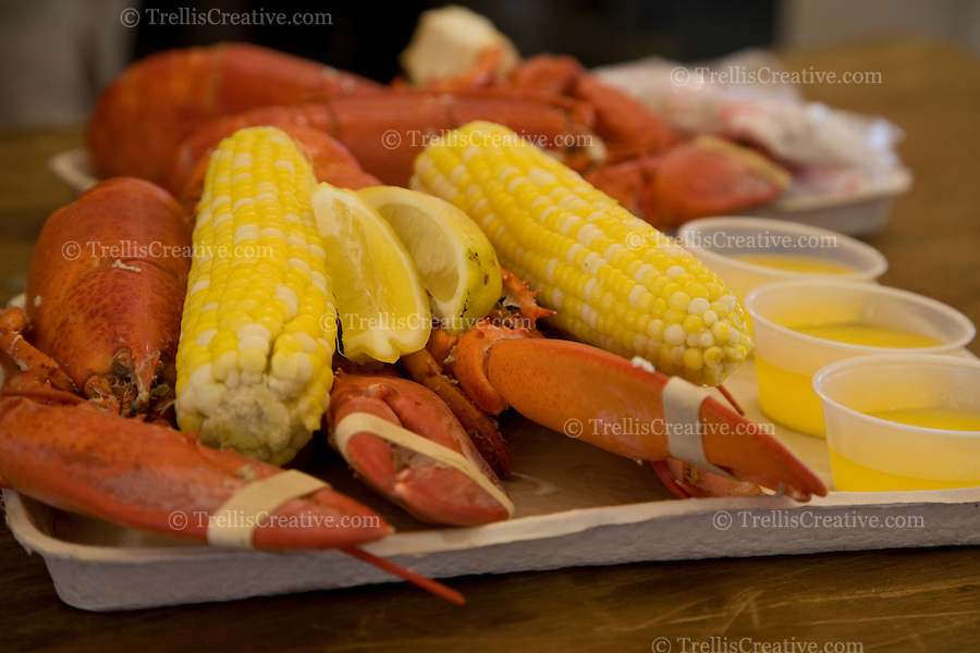 Drawn bumer melted With lobster cob at the