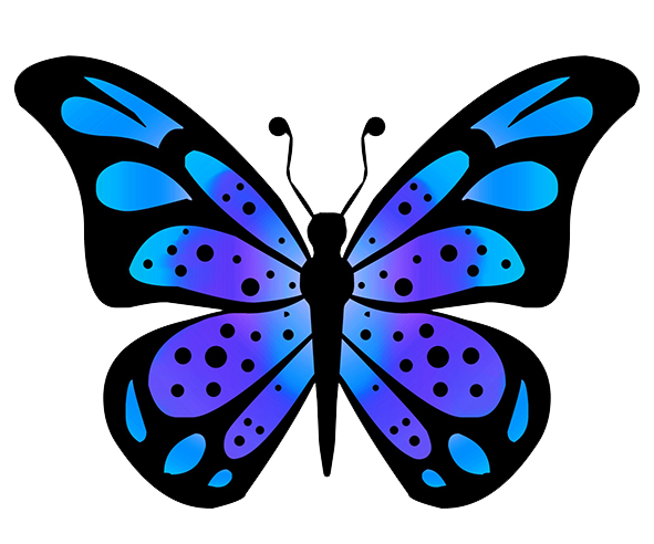 Drawn butterfly blue butterfly Butterfly wing drawing Butterfly Clipart