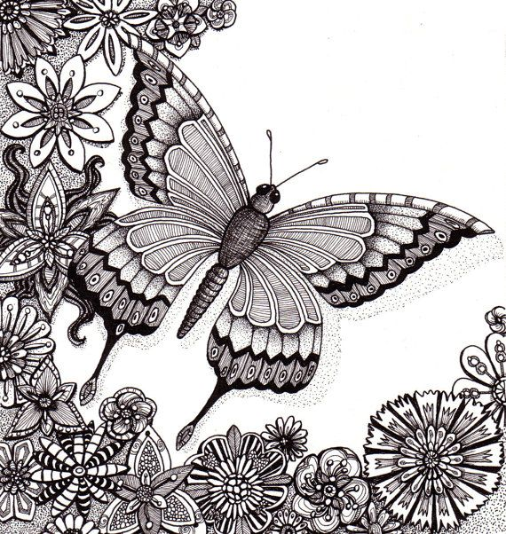 Drawn butterfly but beautiful Whimsical Butterfly butterfly and Beautiful