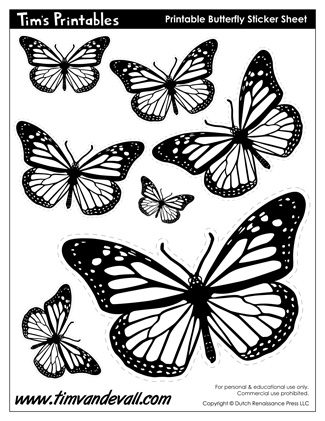 Drawn butterfly color cut out Butterfly Printable Shapes Printable butterfly