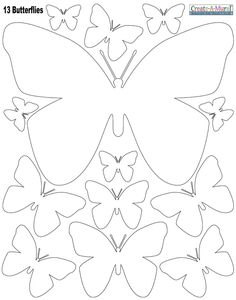 Drawn butterfly color cut out Would a White Art cutting