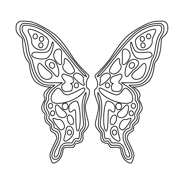 Drawn butterfly color cut out Wings Wings Free on Fairy