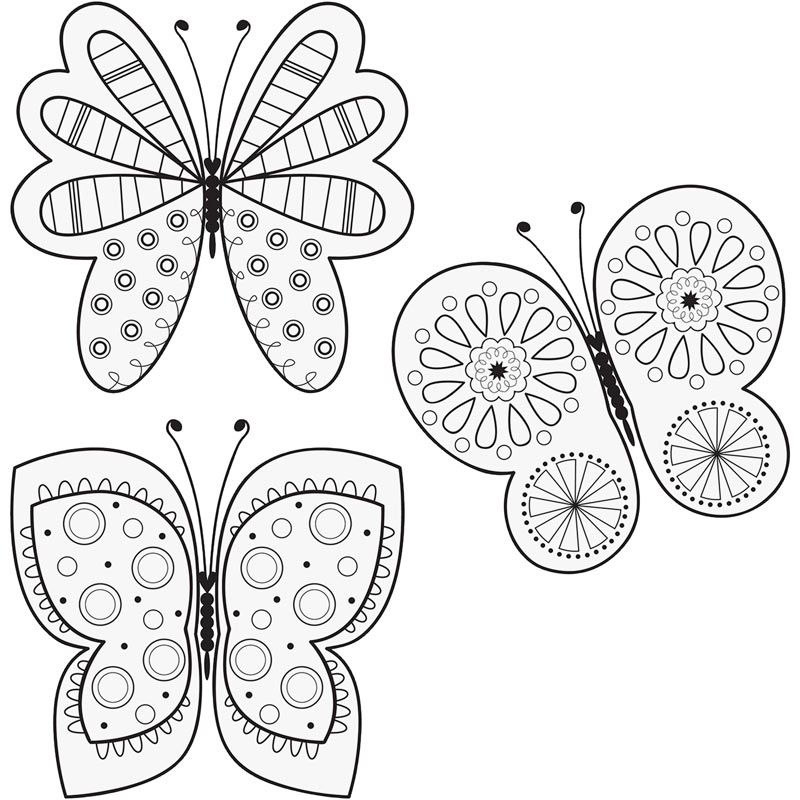 Drawn butterfly color cut out Page and designer Butterfly butterfly
