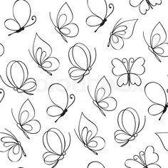 Drawn butterfly design drawing Hand Easy on illustration Vector