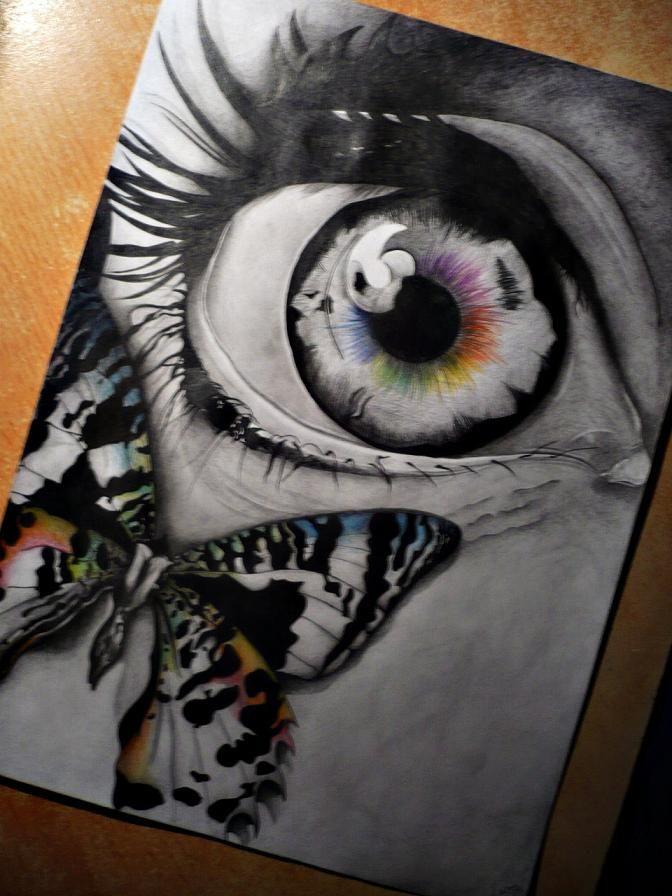 Drawn butterfly eye ~LookI tattoos on butterfly deviantART