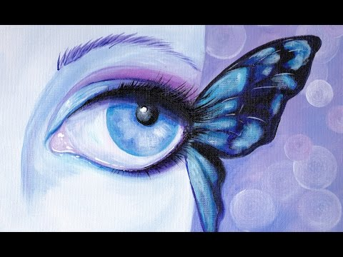 Drawn butterfly eye Acrylic paint Beginners Butterfly #aboutface