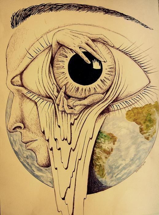 Drawn butterfly eye The 25+ Global Surrealism Pinterest