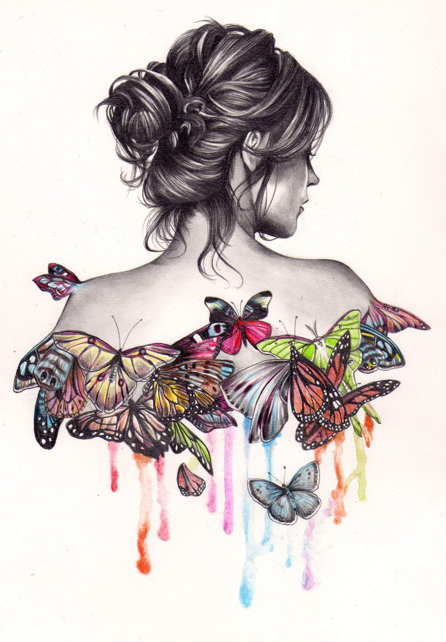 Drawn butterfly eye Louse by Drawings Kate portraits