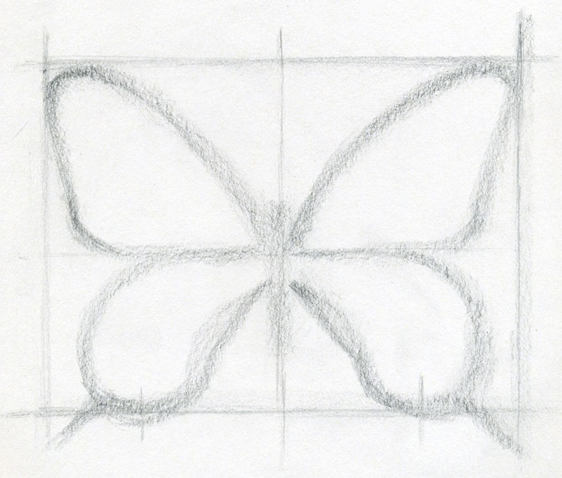 Drawn butterfly grid A who either only Butterfly