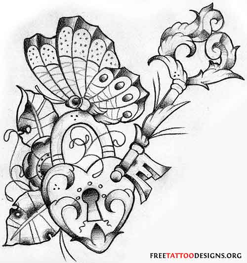 Drawn butterfly heart Butterfly And this and Tattoos
