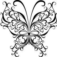 Drawn butterfly heart Drawing Butterfly for Pages images