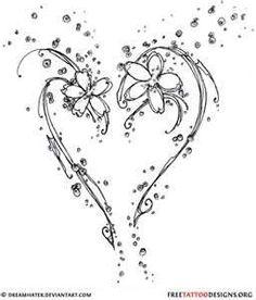 Drawn butterfly heart Heart To Pinterest Butterfly Tattoos