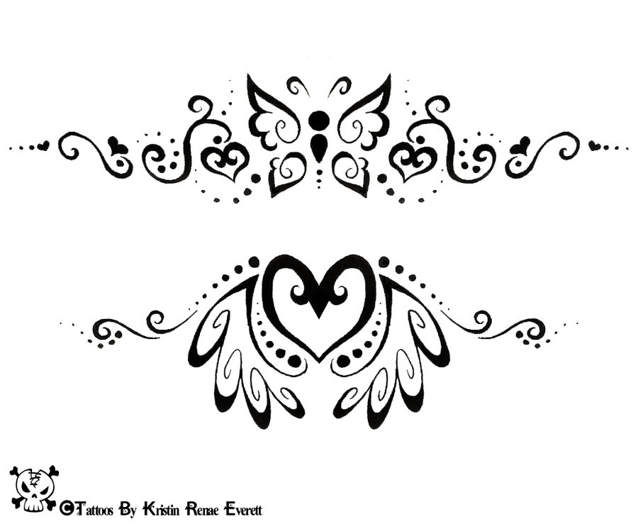 Drawn butterfly heart By 2 Tattoos And Drawn