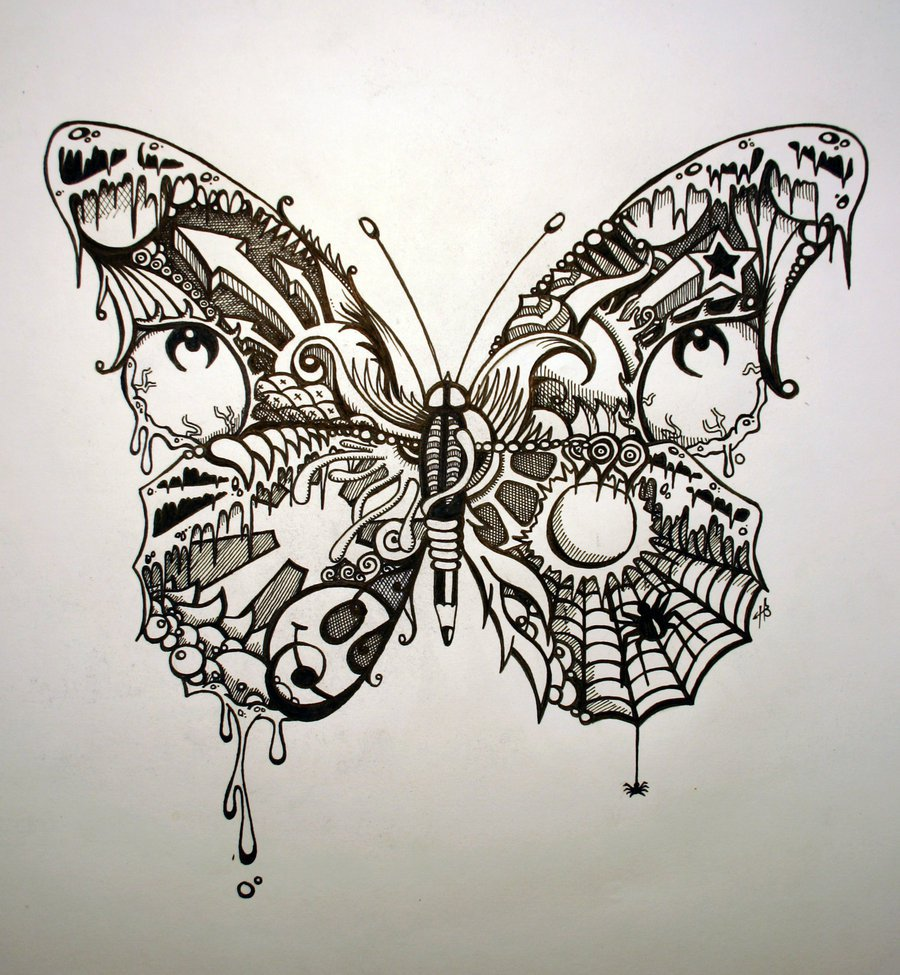 Drawn butterfly psychedelic Google ב trippy חיפוש psychedelic