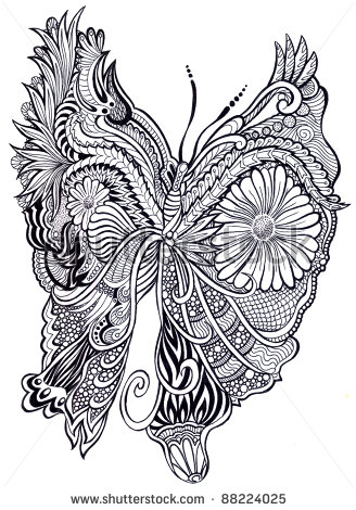 Drawn butterfly psychedelic Drawn) frutas Drawn)  Flores