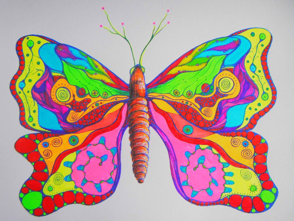 Drawn butterfly psychedelic DeviantArt tracyrf tracyrf Psychedelic on