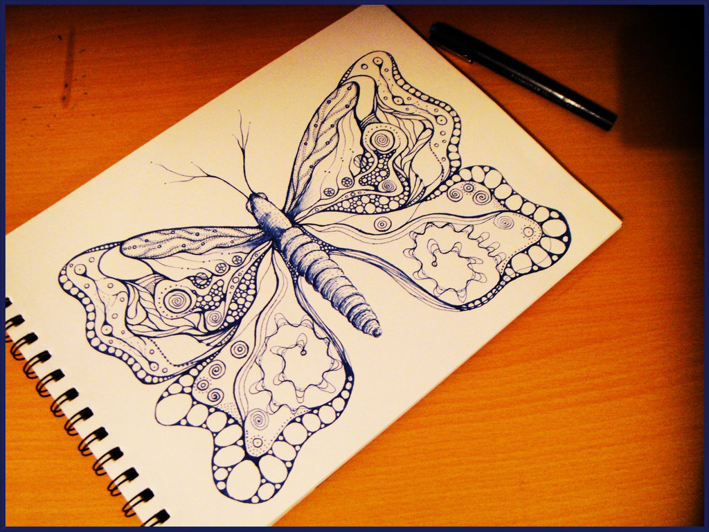Drawn butterfly psychedelic Tracyrf by I Psychedelic by