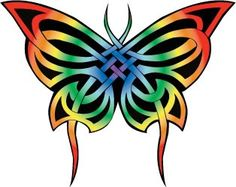 Drawn butterfly rainbow Designs tattoo  Butterfly Tattoo
