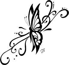 Drawn butterfly sideways Lines down Dont  or