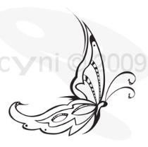 Drawn butterfly sideways Left Simple my Tribal Butterfly