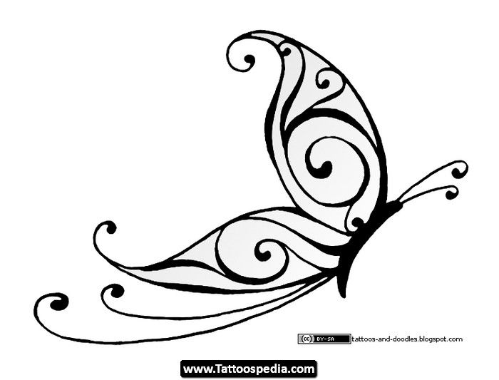 Drawn butterfly sideways Search Google Butterfly Tattoos best