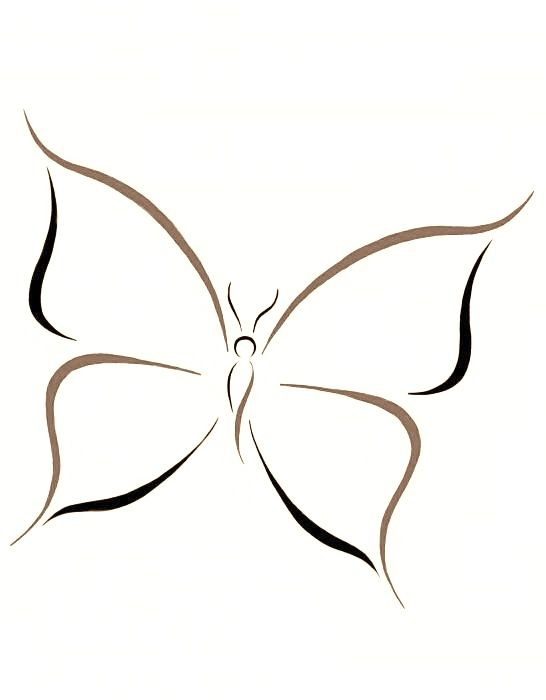 Drawn butterfly simple (One) Tribal best Piercings images