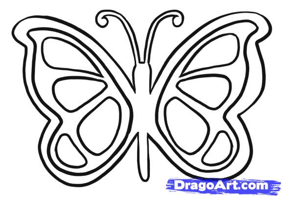 Drawn butterfly simple Art Butterfly Clip Step Art