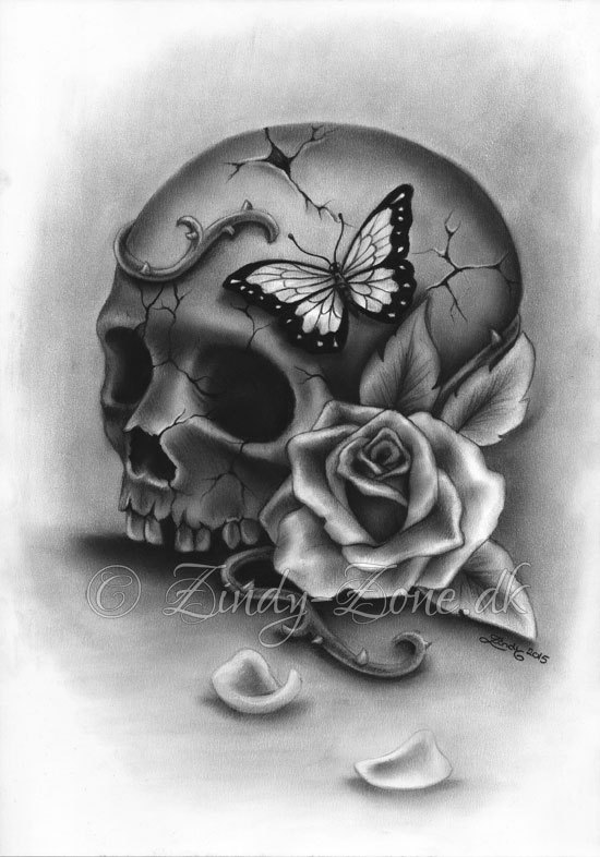 Drawn butterfly skull rose Di jpg Pinterest Nico 868170730_eumh
