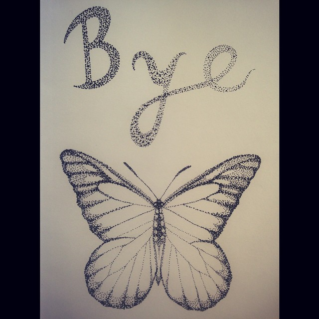 Drawn butterfly stippling Stippling drawing art on I