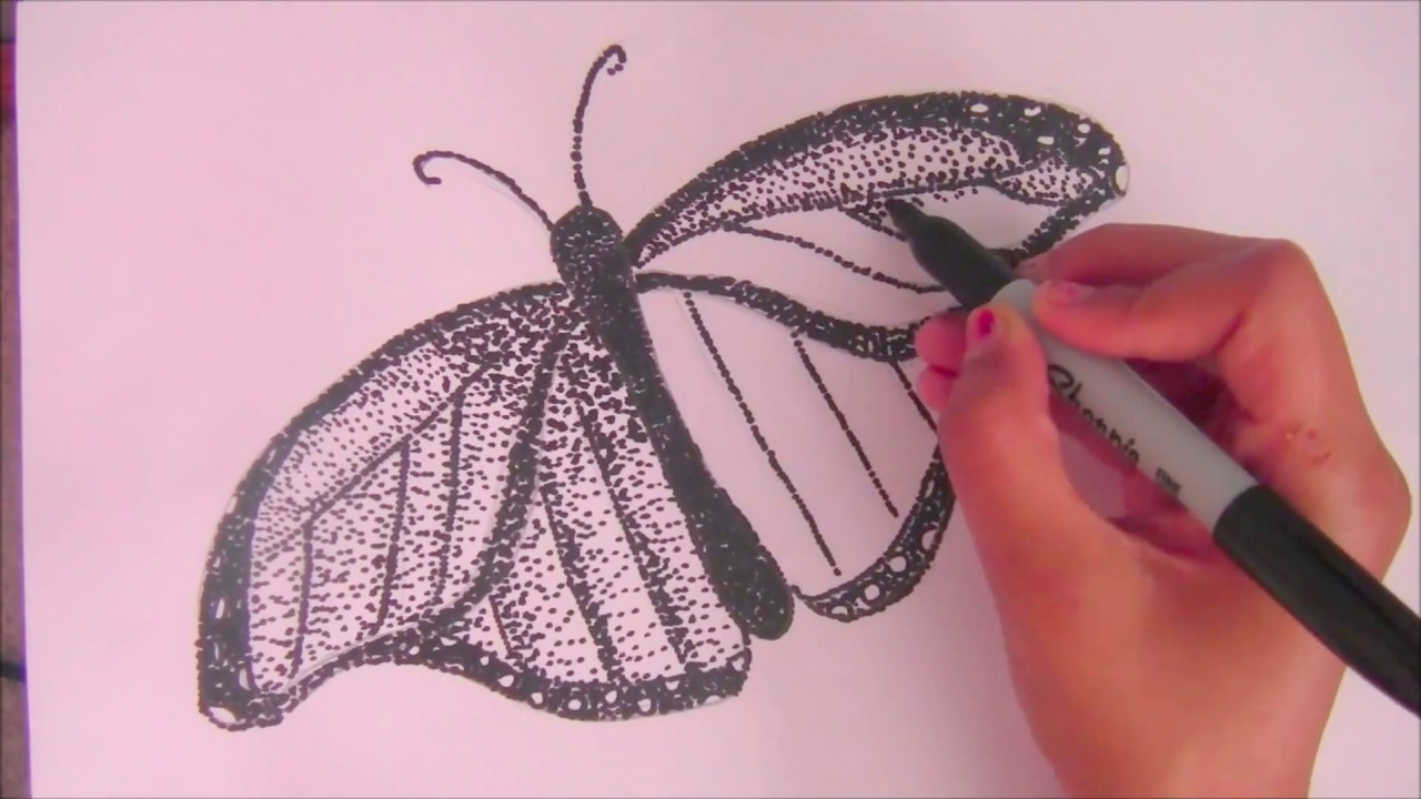 Drawn butterfly stippling By Stippling Step Tutorial Butterfly