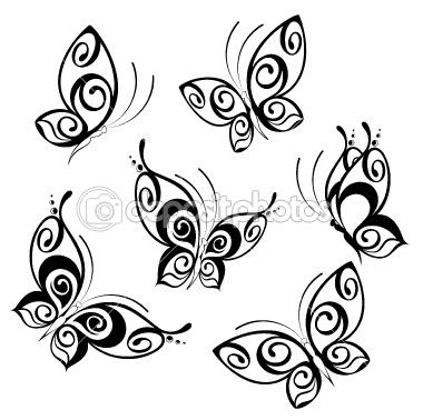 Drawn butterfly stylized Tattoo Love Stylized tattoo tattoo