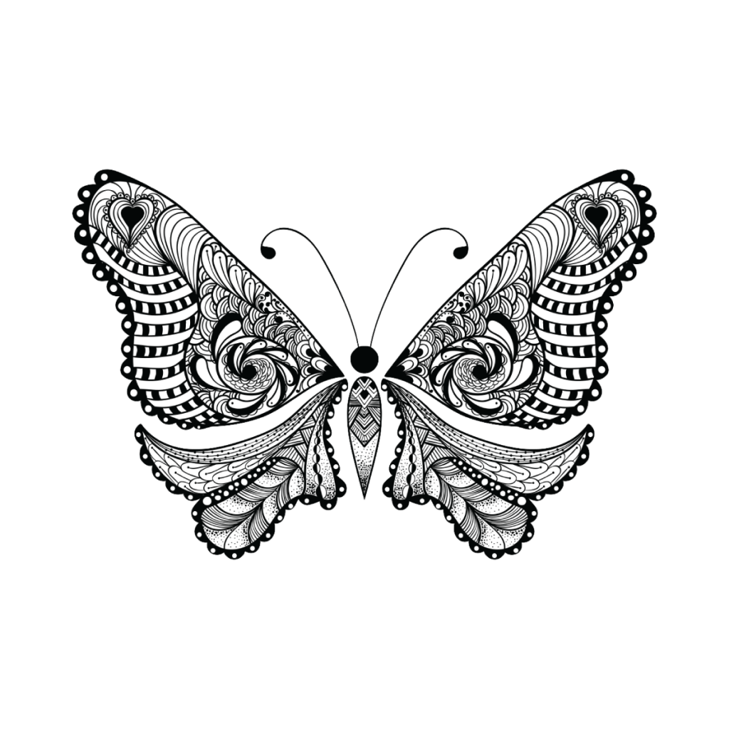 Drawn butterfly totem Connecting – Butterfly The Dots
