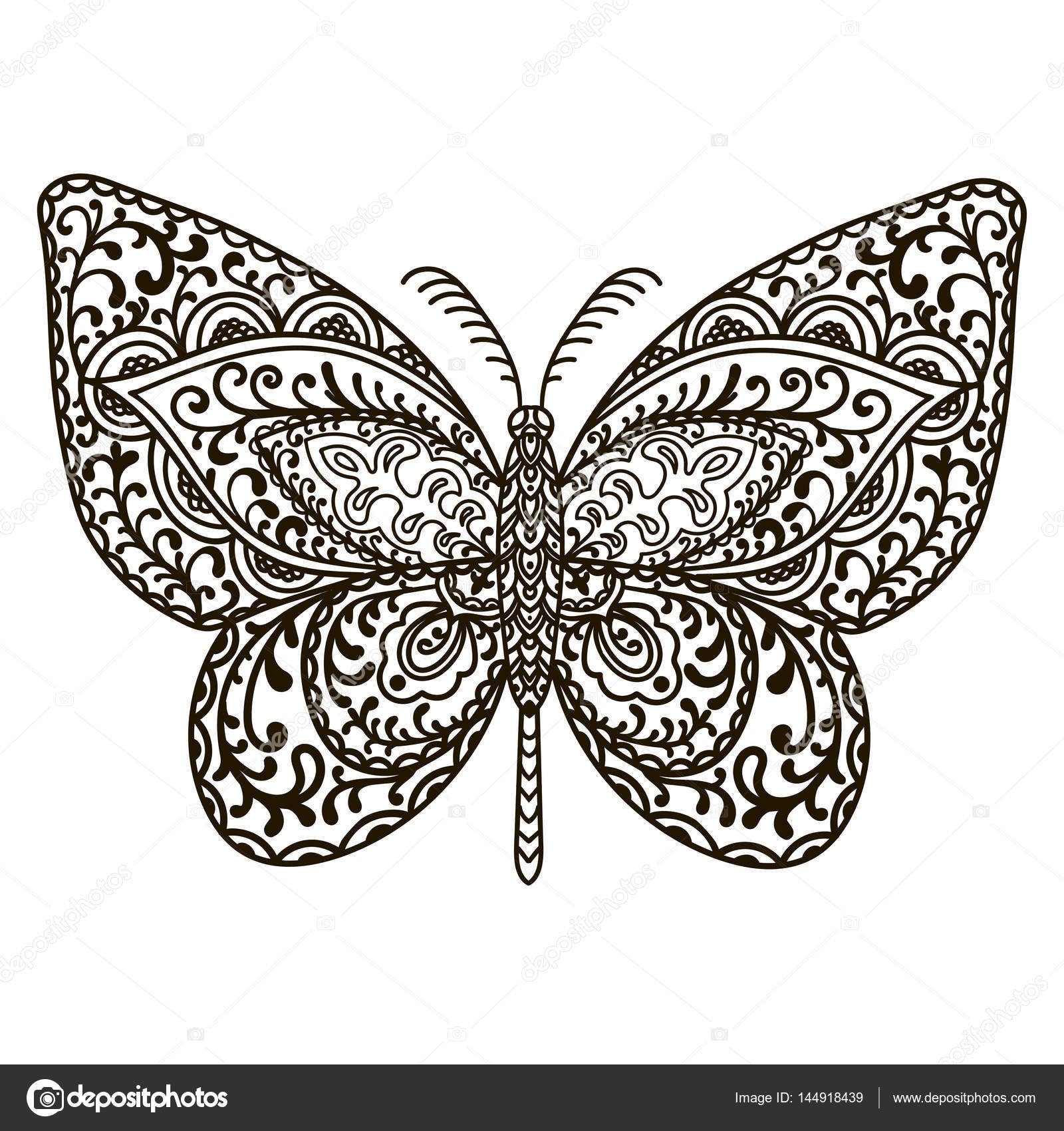 Drawn butterfly totem Totem Animals illustration doodle doodle