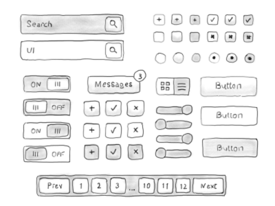 Drawn button Free UI Hand Icons Drawn