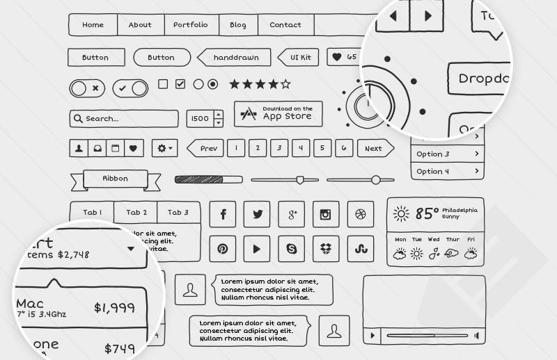 Drawn button user interface #3