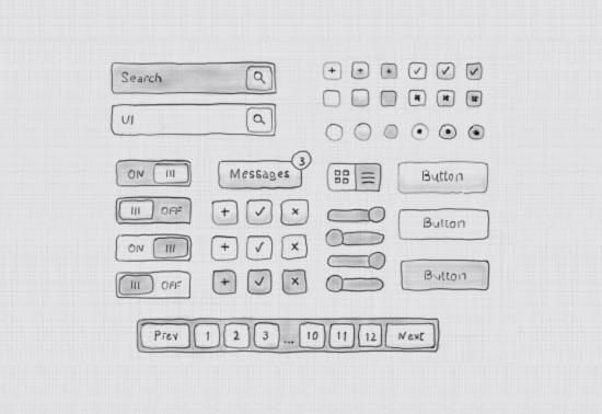 Drawn button user interface #9