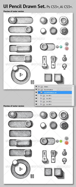 Drawn button user interface #11
