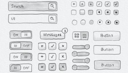 Drawn button user interface #6