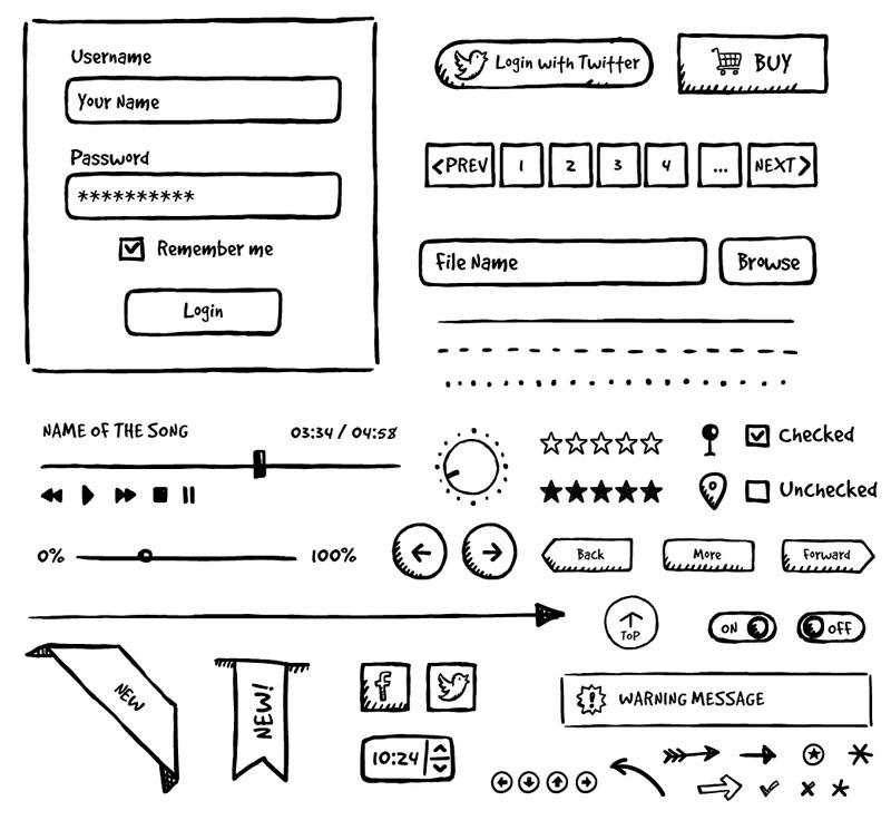 Drawn button user interface #8